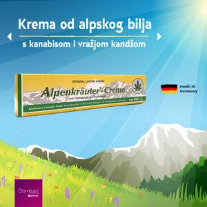 Krema od alpskog bilja s uljem kanabisa i vražjom kandžom